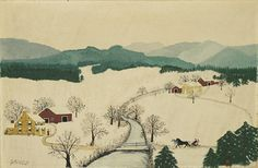Grandma Moses, Over the River to Grandma's House on Thanksgiving Day © Grandma Moses Properties Co., New York