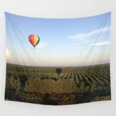 Floating Shadows Wall Tapestry - Hot Air Balloon, Orlando, Florida