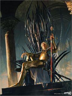 Jaime Lannister on the Iron Throne.