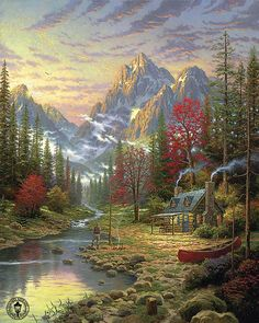Thomas Kinkade The Good Life. A Thomas Kinkade painting is a must have on my Bucketlist.