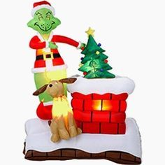 New gemmy 7 39 tall lighted christmas animated airblown for Motor for inflatable decoration