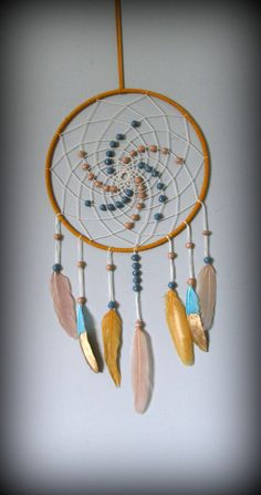 Dream catcher Dream catcher wall hanging Gold dream by FineBubbles