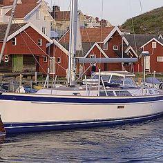 Hallberg-Rassy 48 Mk II with hardtop in Grundsund Yacht Boat, Sailboats, Boating, Sailing, Candle, Sailing Yachts, Boats, Sailboat, Rowing