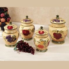 Apple Kitchen Canister Sets