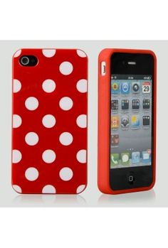 Red Polka Cover For Iphone 4 & 4S   $5  bunch of stuff 29nunder.com