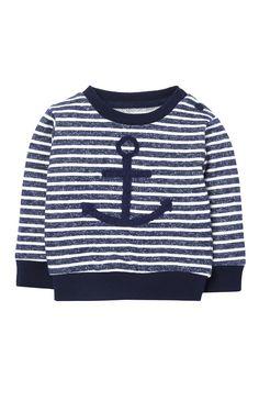 Jersey a rayas con ancla azul marino