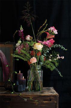 Blooms in a glass jar