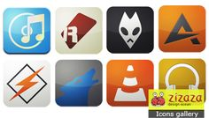 Icon set - Flurry for audio - Zizaza item for free