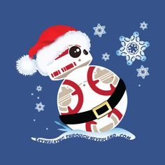 Shop Christmas In The Stars! star wars t-shirts designed by SkyWalkingThroughNeverland as well as other star wars merchandise at TeePublic. Star Wars Trivia, Star Wars Party, Star Wars Humor, Star Wars Christmas, Disney Christmas, Christmas Images, Bb 8 Wallpaper, Star Wars Wallpaper, Star Wars Fan Art