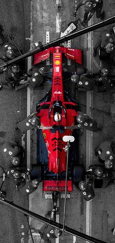 Ferrari Pits F1 iPhone Wallpaper 2020