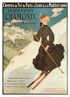 Sports d'Hiver Chamonix Poster by Abel Faivre at AllPosters.com