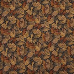 Harvest Beige and Burgundy Foliage Tapestry Upholstery Fabric
