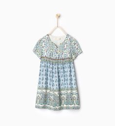 Flowing printed dress-DRESSES AND JUMPSUITS-GIRL | 4-14 years-KIDS | ZARA United States