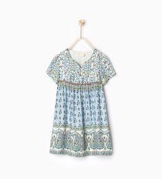 ZARA - BØRN - Mønstret kjole loose fit