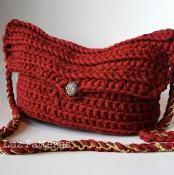 Crochet shoulder bag pattern (88) - via @Craftsy