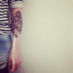 Arm Tattoo, Flower Tattoo, Women's Tattoo