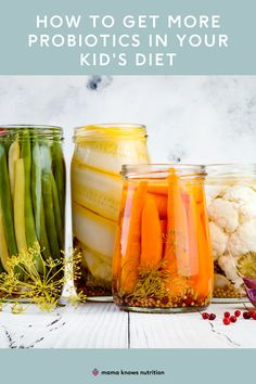 Get the top, research-backed info on probiotic foods for kids, probiotics for kids, and learn about the benefits plus the most kid-friendly and picky eater friendly probiotic foods to keep them healthy. #kidnutrition #healthykids #probiotics Best Probiotic Foods, Prebiotic Foods, Fermented Foods, Healthy Meals For Kids, Kids Meals, Probiotics For Kids, Lactobacillus Reuteri, Toddler Nutrition, Registered Dietitian Nutritionist
