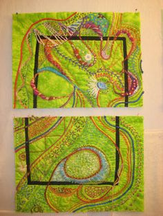 Art Quilt Shows | Breaking Out of the Box, Stupendous Stitching, Craftsy Class, by Carol ...
