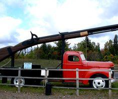 Big Ernie.  A 35 foot, 4000 pound, working rifle.  In Ishpeming, Michigan, on the Upper Penninsula.