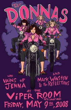 The Donnas Concert Postersd | the donnas @ the viper room | Flickr - Photo Sharing!