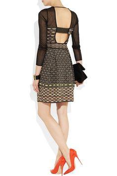 M Missoni|Cutout knitted dress|NET-A-PORTER.COM