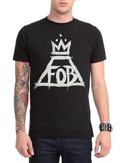 Fall Out Boy Crown Logo T-Shirt, BLACK