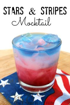 Stars and Stripes Mocktail - The Frugal Navy Wife