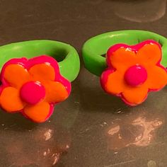 Fimo Ring, Polymer Clay Ring, Polymer Clay Flowers, Clay Art Projects, Clay Crafts, Diy Clay Rings, Cute Clay, Clay Creations, Biscuit
