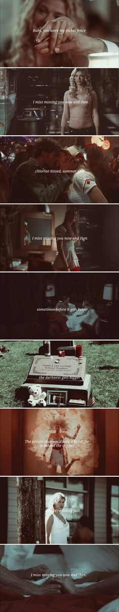 "Jessica Moore: ""Baby you were my picket fence, I miss missing you now and then."" #spn"