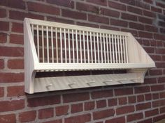 Wood Plate Rack for Vertical Plate Storage | Plate storage, Plate ...