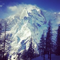 Mont Blanc (4810m) in Chamonix Mont-Blanc, Rhône-Alpes. The hiking route the Tour du Mont Blanc, needs to be on this list, as the Mont Blanc is the highest mountain in Europe