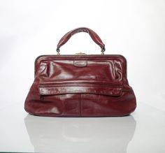 Items similar to Absolutely unique ,Rare Vintage Burgundy Genuine Leather handbag.Top Handle Bag on Etsy Vintage Gifts, Etsy Vintage, Vanilla Shop, Vintage Vogue Fashion, Burgundy Handbags, Vintage Purses, Small Bags, October Fall, Decor Ideas