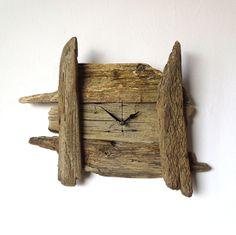 Driftwood Clock Wall Beach Clock Recycled Wood by NaturalClocks, £25.00