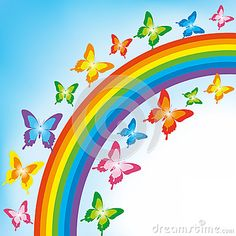 Butterfly Rainbow Stock Photos, Images, & Pictures – Images) - Page 3 Rainbow Wallpaper, More Wallpaper, Garden Fence Art, Funny Emoji Faces, Rainbow Images, Rainbow Butterfly, Baby Shower Decorations For Boys, Rainbow Aesthetic, Rainbow Colors