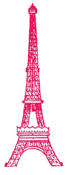 Eiffle Tower Picture Pink