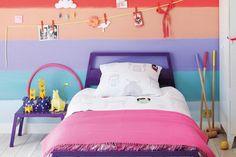Beautiful Nightstands for Kids Bedroom cordel colgador Nursery Wall Decals Boy, Kids Wall Decals, Girl Room, Girls Bedroom, Bedroom Ideas, Colorful Playroom, Playroom Colors, Rainbow Room, Rainbow Theme