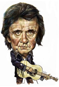 Johnny Cash by artist.toby, via Flickr