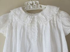 Vintage Couture White Dotted Swiss Baby Dress