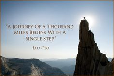 """A journey of a thousand miles must begin with a single step"" - Lao Tzu #Quote #Travel"