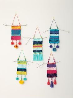 Martha Stewart Crafts™ Lion Brand® Yarn DIY Weaver™ Lion Brand® Vanna's Choice® Natural Instincts Wall Hangings (Loom/Weave) Weaving For Kids, Weaving Art, Tapestry Weaving, Diy Arts And Crafts, Creative Crafts, Crafts For Kids, Weaving Projects, Craft Projects, Yarn Wall Art