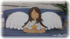 Adventskalender - Adventskalender Engel XXL aus Holz - ein Designerstück von Feingefuehl- bei DaWanda