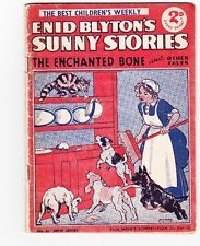 1937 Enid Blytons Sunny Stories-childrens weekly-Scottie dog cover