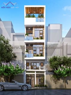 3 Storey House Design, House Front Design, Small House Design, Modern House Design, Home Building Design, Home Room Design, Building Exterior, House Building, Narrow House Designs