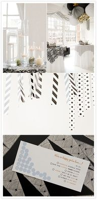 Black and white party decor - my party is going to ROCK!!!  #Feelbeautiful #WHBM