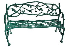 Faux-Bois Iron Bench on OneKingsLane.com