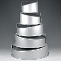 Fat Daddios Mad Dadder Round Topsy Turvy Mad Dadder Cake Pan Set, 5 Piece