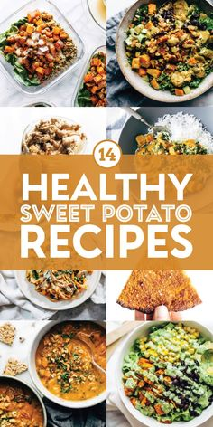 Sweet potatoes can really do it all. Roast them up for a salad, spiralize them for a bowl, blend them up for a milkshake, or bind them up for pizza crust. MAGIC. Try out our favorite sweet potato recipes! Sweet Potato Recipes Healthy, Quinoa Sweet Potato, Sweet Potato Skins, Sweet Potato Curry, Sweet Potato Noodles, Salad With Sweet Potato, Mexican Sweet Potatoes, Roasted Sweet Potatoes, Real Food Recipes