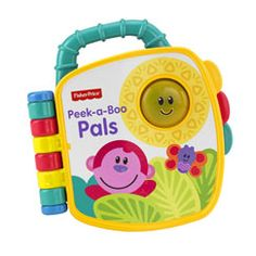 Play peek-a-boo with baby's favorite animal friends! Turn the pages or press the sun to activate lights, a fun song, phrases and music. Colorful illustrations invite baby to turn each page and discover what's next!    Features •Peek-a-boo animal fr