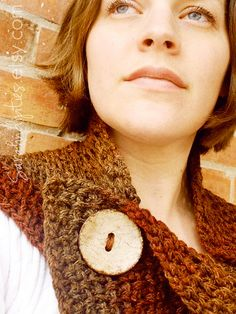 Big Button Scarf by sarahndipities, via Flickr