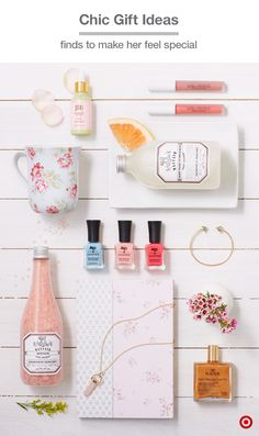 "Need a last-minute gift idea? Check out these 12 easy, affordable ideas to pamper her with a little ""me time,"" whether that's curling up with a journal and coffee, soaking luxuriously in a bubble bath then doing her nails, or adding a little sparkle with jewelry, lip gloss and body oils that'll have her glowing from head to toe."